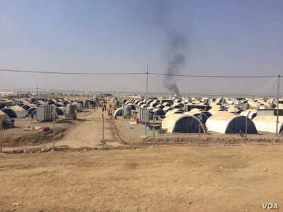 Camps like this one in northern Iraq are filling up fast with people fleeing war, IS and extreme poverty.  Aid workers say they don't know if they will have the resources to care for all the refugees if or when Iraqi and Kurdish forces push into Mosu...