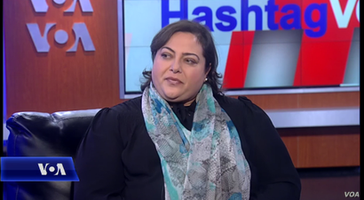 Suzanne Meriden, director of operations, Syrian American Council, appearing on Hashtag VOA, Nov. 24, 2015.