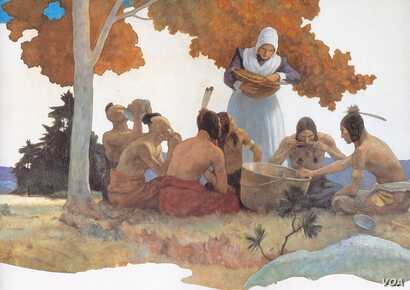Thanksgiving with the Indians by N. C. Wyeth