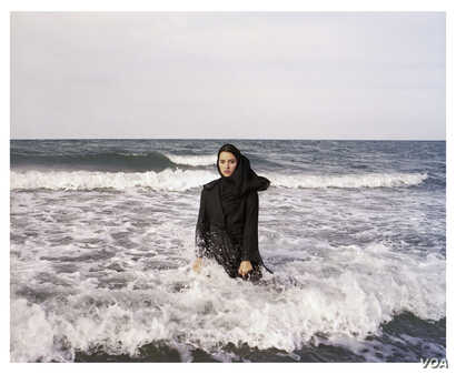 """Newsha Tavakolian, Untitled, from the series """"Listen,"""" 2010; Pigment print, 39 3/8 x 47 1/4 in. (Courtesy of the artist and East Wing Contemporary Gallery)"""