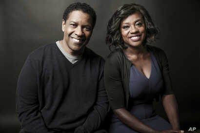 "Denzel Washington and Viola Davis star in Washington's adaptation of the August Wilson play ""Fences."""