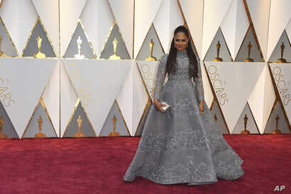 Ava DuVernay arrives at the Oscars on Feb. 26, 2017, at the Dolby Theatre in Los Angeles.