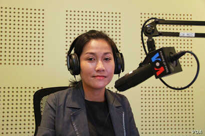 "Ms. Sok Sikieng, Technovation Ambassador in Cambodia and Lecturer of Information Technology at Royal University of Phnom Penh discusses ""Opportunities and Challenges for Cambodian Women in Tech"" on VOA Khmer's Hello VOA ""New Voices"", Monday, Ma..."