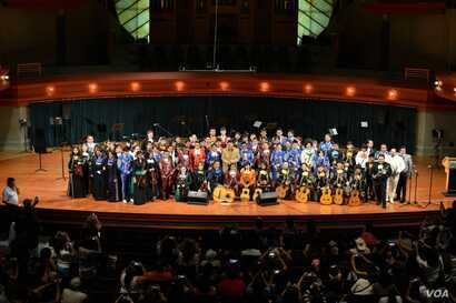 Final day of the Mariachi workshop at the University of North Texas. (Osseily Hanna)