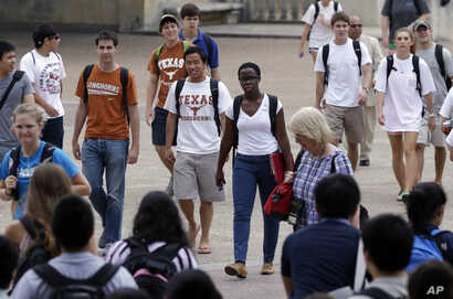 "FILE - At the University of Texas in Austin, a campus that was once slow to integrate, the student body, like the state, is ""majority-minority."""