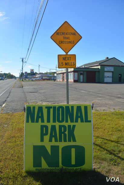 The local community has mixed feelings about establishing a national park in the North Maine Woods.