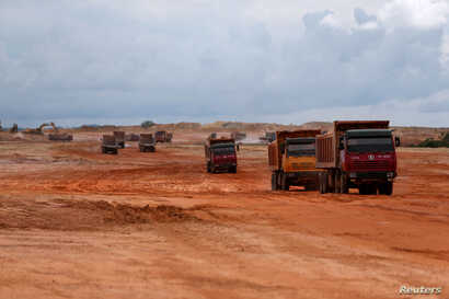 An airport construction site is seen in an area developed by China company Union Development Group at Botum Sakor in Koh Kong province, Cambodia, May 6, 2018.