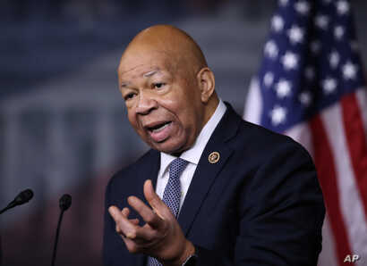 Rep. Elijah Cummings, D-Md., holds a news conference on Capitol Hill, Jan. 12, 2017, to discuss President-elect Donald Trump's conflicts of interest and ethical issues.