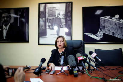 Cuba's Ambassador to Canada Josefina Vidal talks during a news conference in Havana, Cuba, Jan. 9, 2018.