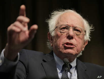 Sen. Bernie Sanders speaks during the National Action Network Convention in New York, April 5, 2019.