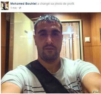 Screen grab of profile photo of Nice attacker Mohamed Bouhlel