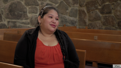 Rosa Gutierrez Lopez, mother of three American-born children, sought sanctuary at the Cedar Lane Unitarian Universalist Church in December to avoid deportation.