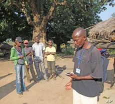 Researchers adapted smart phones to help record responses, the first time such technology was used to conduct surveys in the Central African Republic.
