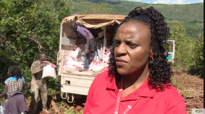 Sophie Hamandishe, spokeswoman for Save The Children in Zimbabwe says her organization is trying to determine how many of the missing are children after Cyclone Idai hit Chimanimani  and Chipinge districts, March 26, 2019.  (C Mavhunga/VOA)