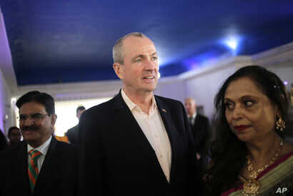 Democratic gubernatorial candidate Phil Murphy arrives to a campaign event in Edison, N.J., Nov. 6, 2017. Murphy prevailed Nov. 7 in the race to replace Republican Governor Chris Christie.
