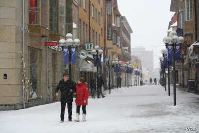 A city of around 45,000 people, residents of Ostersund, Sweden have rarely expressed anti-immigrant sentiment prior to recent attacks, which some media houses say are blamed on migrants, Ostersund, Sweden, March 19, 2016. (Heather Murdock/VOA)