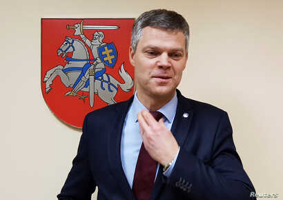 Lithuania's State Security Department director Darius Jauniskis poses for a picture  in Vilnius, Lithuania, Nov. 29, 2016.