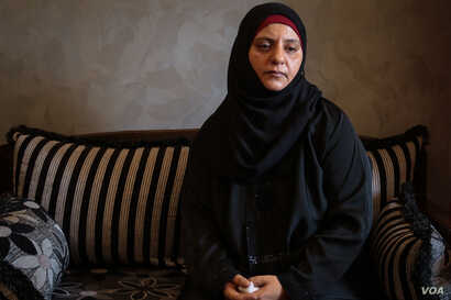 Iman Muhammad Sheikha, Ahmad's mother, has little faith that things will improve for Palestinians. (J. Owens/VOA)