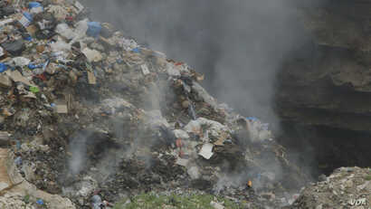 Waste is burned in Majadel, south Lebanon. (Photo courtesy of Human Rights Watch)