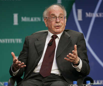 2002 Nobel Economics Laureate Daniel Kahneman, takes part in a panel discussion with fellow Nobel Laureates in Economics at the 2006 Milken Institute Global Conference in Beverly Hills, California, April 24, 2006.