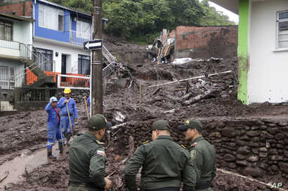 The disaster struck in the early morning in Manizales, Colombia, April 19, 2017.