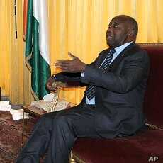 Ivory Coast leader Laurent Gbagbo at the presidential palace in Abidjan, Dec 30 2010.