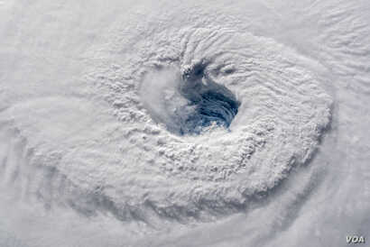 A high-definition video camera outside the space station captured stark and sobering views of Hurricane Florence, a Category 4 storm.