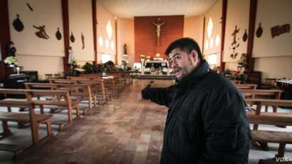 Father Rito Julio Alvarez, a local priest, had to stop housing refugees and migrants in his church Ventimiglia, Italy, after he received threatening letters.
