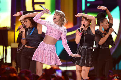 Taylor Swift performs at the iHeartRadio Music Festival at the MGM Grand Garden Arena on Sept. 19, 2014 in Las Vegas, Nevada.