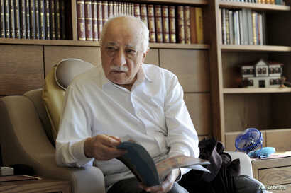 Islamic preacher Fethullah Gulen is pictured at his residence in Saylorsburg, Pennsylvania, Sept. 26, 2013.