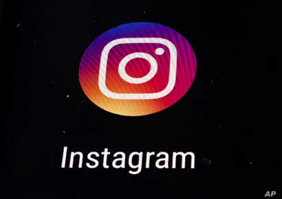 FILE - Instagram app logo is displayed on a mobile screen in Los Angeles.
