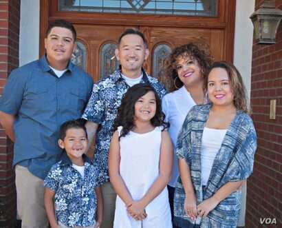 Family of Sonia Smith-Kang, founder of Mixed Up Clothing. (Courtesy Sonia Smith-Kang)