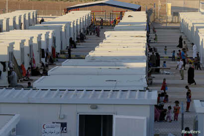 The Mrajeeb Al Fhood refugee camp in Zarqa, Jordan, has received about 5,000 Syrian refugees so far, July 1, 2014.