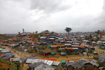 A view of the Kutupalong Rohingya refugee camp that U.N. Secretary-General Antonio Guterres visited Monday in Cox's Bazar district, Bangladesh, June 2, 2018.