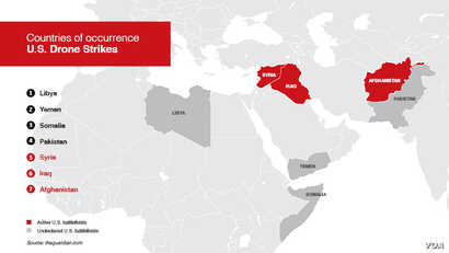 Countries Where U.S. Drone Strikes Have Been Conducted