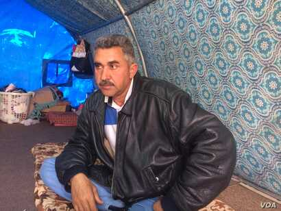 Local community leaders like Hatam Mohammad say the cycle of revenge has created violent conflicts within tribes since IS was defeated in December, pictured on Feb. 28, 2018 in Haj Ali, Iraq.