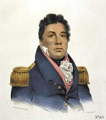 Portrait of Choctaw Chief Pushmataha, who sided with the Americans during the War of 1812.  Courtesy, Smithsonian's National Portrait Gallery.