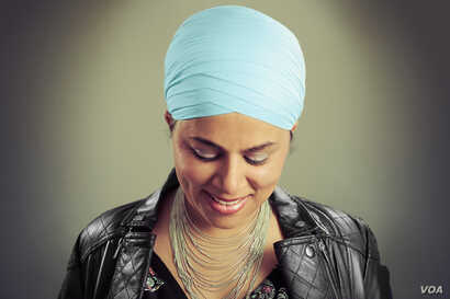 Amrita Khurana, a marketing specialist at The New York Times, poses for her portrait with the Sikh Project.