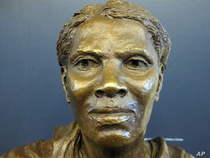 A bronze bust of Harriet Tubman, on display during a media preview of the Harriet Tubman Underground Railroad Visitor's Center, March 10, 2017, is one of the first things visitors see when entering the new facility in Church Creek, Maryland.