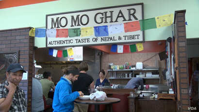 Momo Ghar is just a counter and two tiny tables but it has a big reputation, #1 in Columbus, Ohio on Yelp.