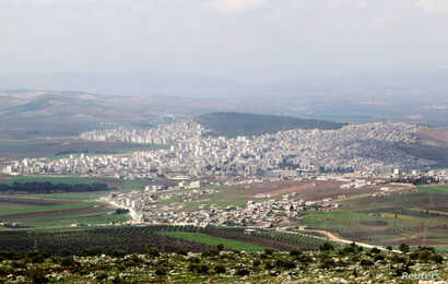 A general view shows the Kurdish city of Afrin, northwest Syria March 18, 2015.