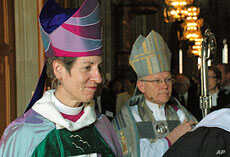 Jefferts Schori (left) and Church of Sweden Archbishop Anders Wejryd (right)