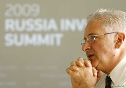 FILE - Alexis Rodzianko talks to Reuters in Moscow, Sept. 16, 2009.