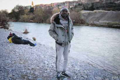 Salah Baker Alam, from Darfur in Sudan, is seen in Ventimiglia, Italy. Alam has tried unsuccessfully to cross into France five times, but says he will not give up.