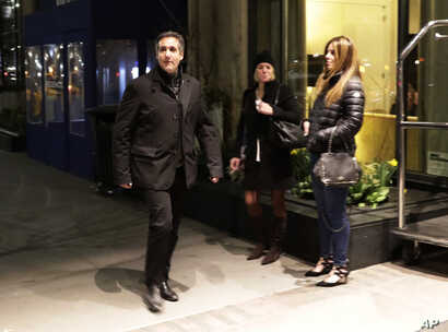 Michael Cohen, U.S. President Donald Trump's personal attorney, walks to his hotel, April 10, 2018, in New York.