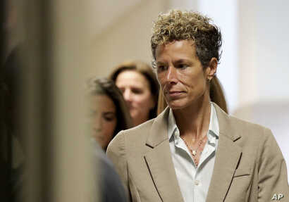 Andrea Constand arrives at the sentencing hearing for the sexual assault trial of Bill Cosby at the Montgomery County Courthouse in Norristown, Pennsylvania, Sept. 24, 2018.