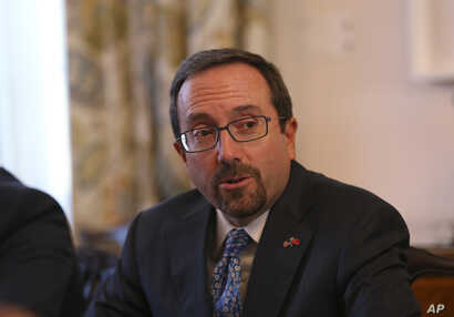 U.S. Ambassador John Bass attends a news conference in Ankara, Turkey, Oct. 11, 2017.