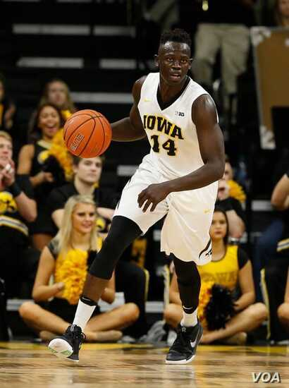 """""""I have had a lot of ups and downs, but it has made me into a better man and a better player,"""" says the University of Iowa's Peter Jok. (University of Iowa photo)"""