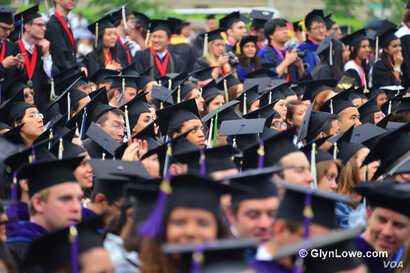 FILE -- George Washington University commencement. (Photo by www.GlynLowe.com)