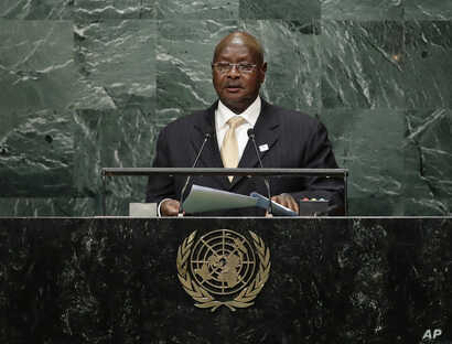President of Uganda, Yoweri Kaguta Museveni speaks during the 71st session of the United Nations General Assembly, Sept. 20, 2016, at U.N. headquarters.